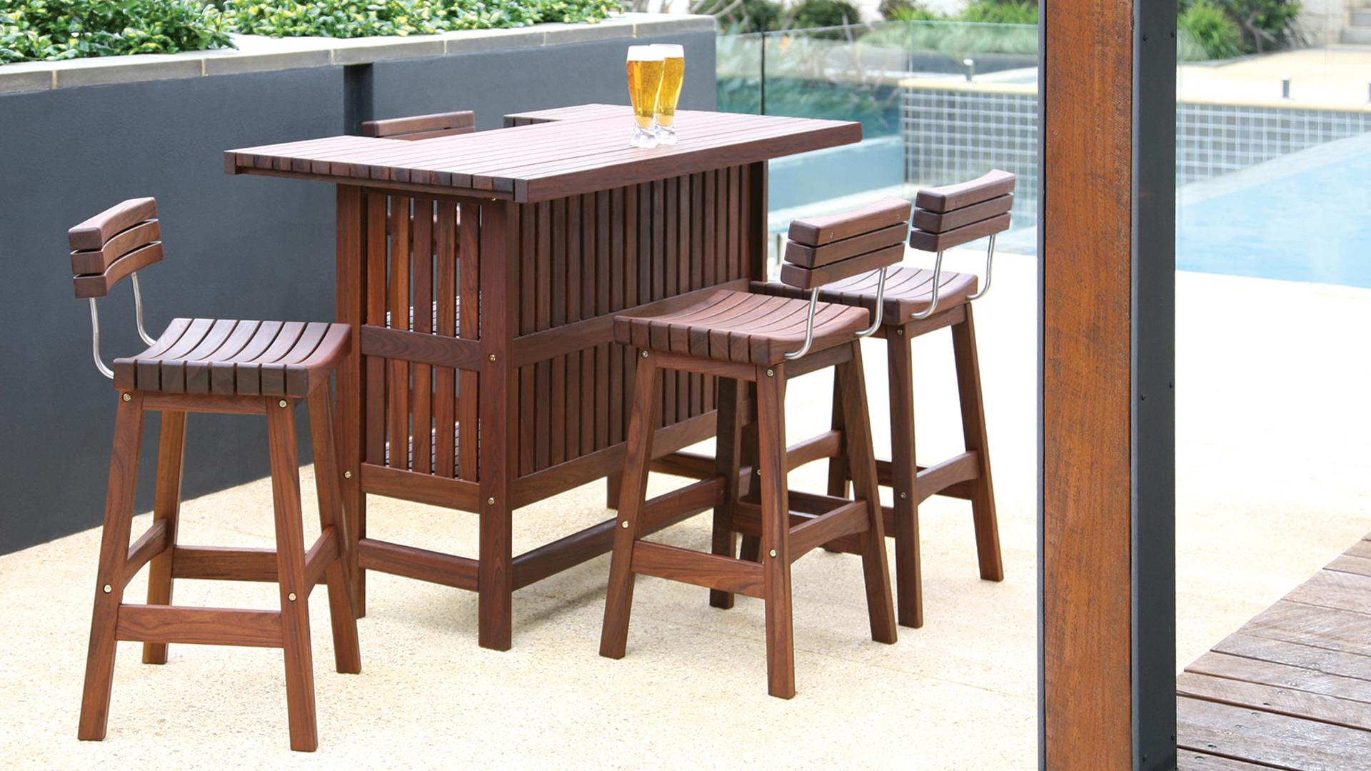 Ipe Wood Outdoor Bar