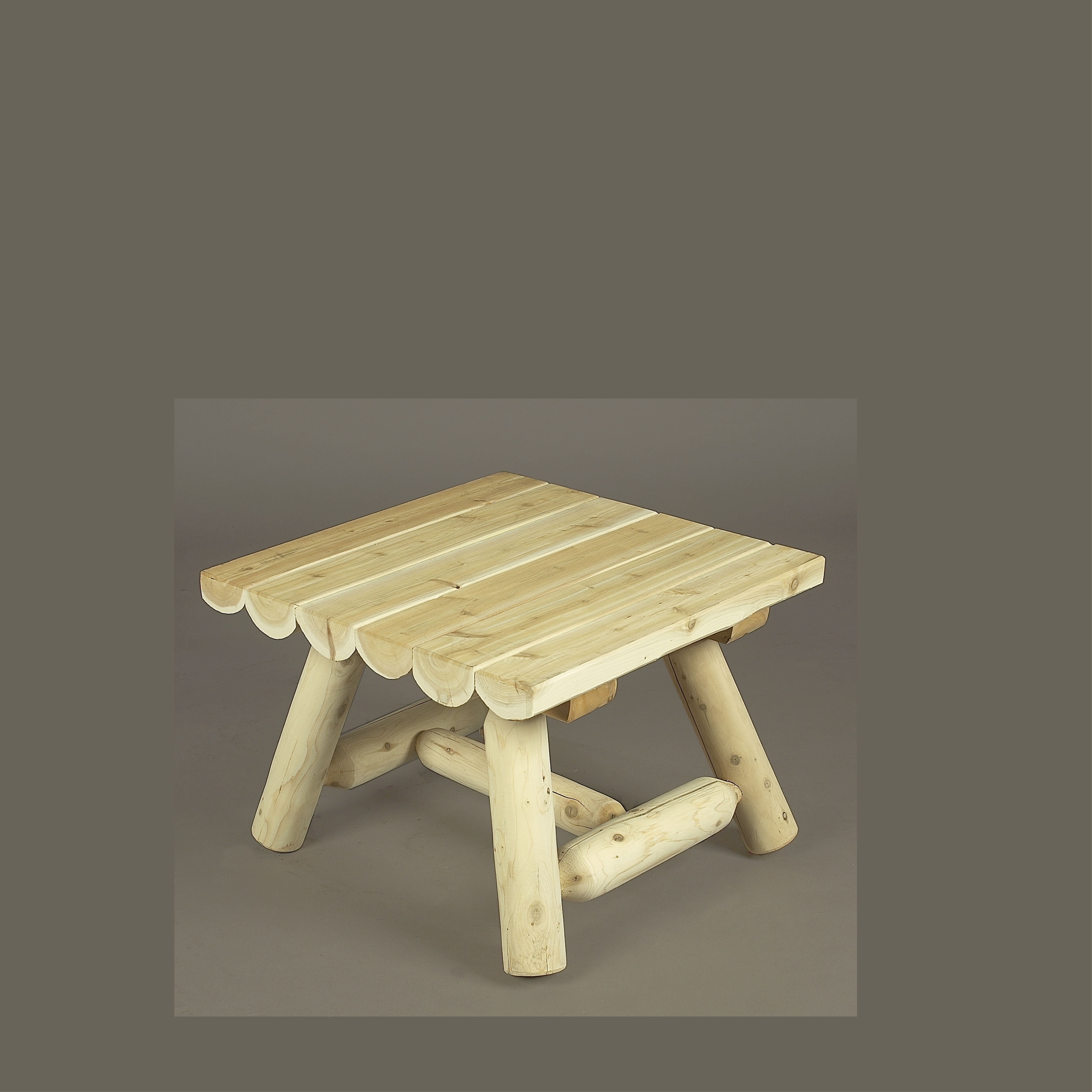 Square Rustic Coffee Table Country Cottage Furniture