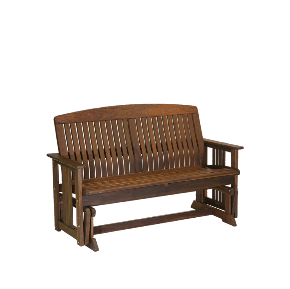 Ipe Wood Outdoor Glider Bench Country